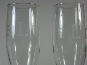 Monogramed Champain Flutes