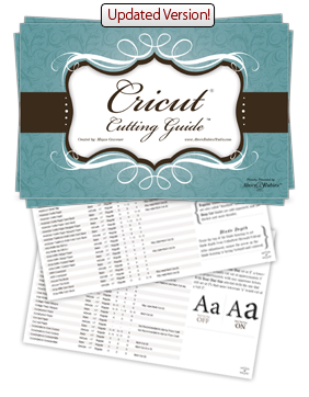 Cricut Cutting Guide Booklet