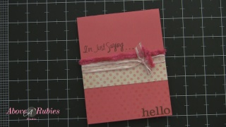 Tuesday Tutorial: Super Pink Inspired I'm Just Sayin' Card