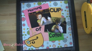 Coffee Scrapbook Layout1