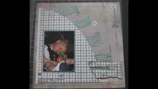 sleepy boy scrapbook layout