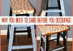 Why you need to Sand before Decoupage