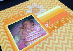 How to Ombre and Chevron Trend Your Scrapbook Layouts