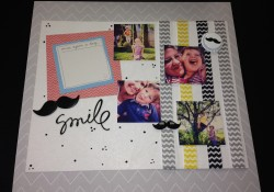 MoVember Scrapbook Layout