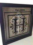 Custom Monogram Shadow Box - Two At A Time Design