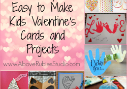 Saturday 7: Easy to Make Kids Valentines Cards