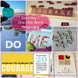 One Little Word Display Collage
