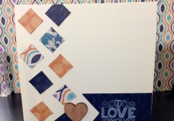I LOVE YOU Handmade Card Tutorial