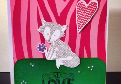 Happy Valentine's Day! Easy Kids Card with Super Cute Fox