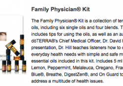 Family Physcian Kit Doterra Essential Oils