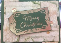 Merry Christmas Gold and Mist – Simple Handmade Christmas Card Day 8