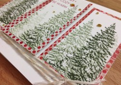 Easy Layered Stamping Christmas Tree Panel Card Day 12