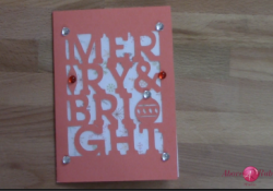 Merry and Bright Cricut Artfully Sent Card Easy one cut