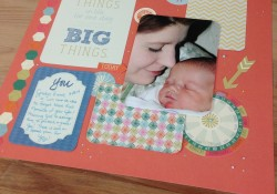 Easy 10 Minute 12×12 Scrapbook Layout