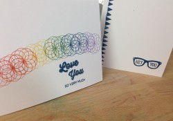 Easy Rainbow stamped card