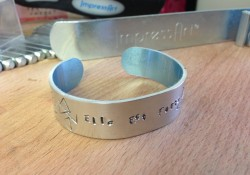 personalized jewelry metal stamped bangle