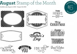 August Stamp of the Month 5 dollars
