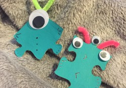 Cricut Jigsaw Puzzle Piece Aliens! KIDS CRAFT!
