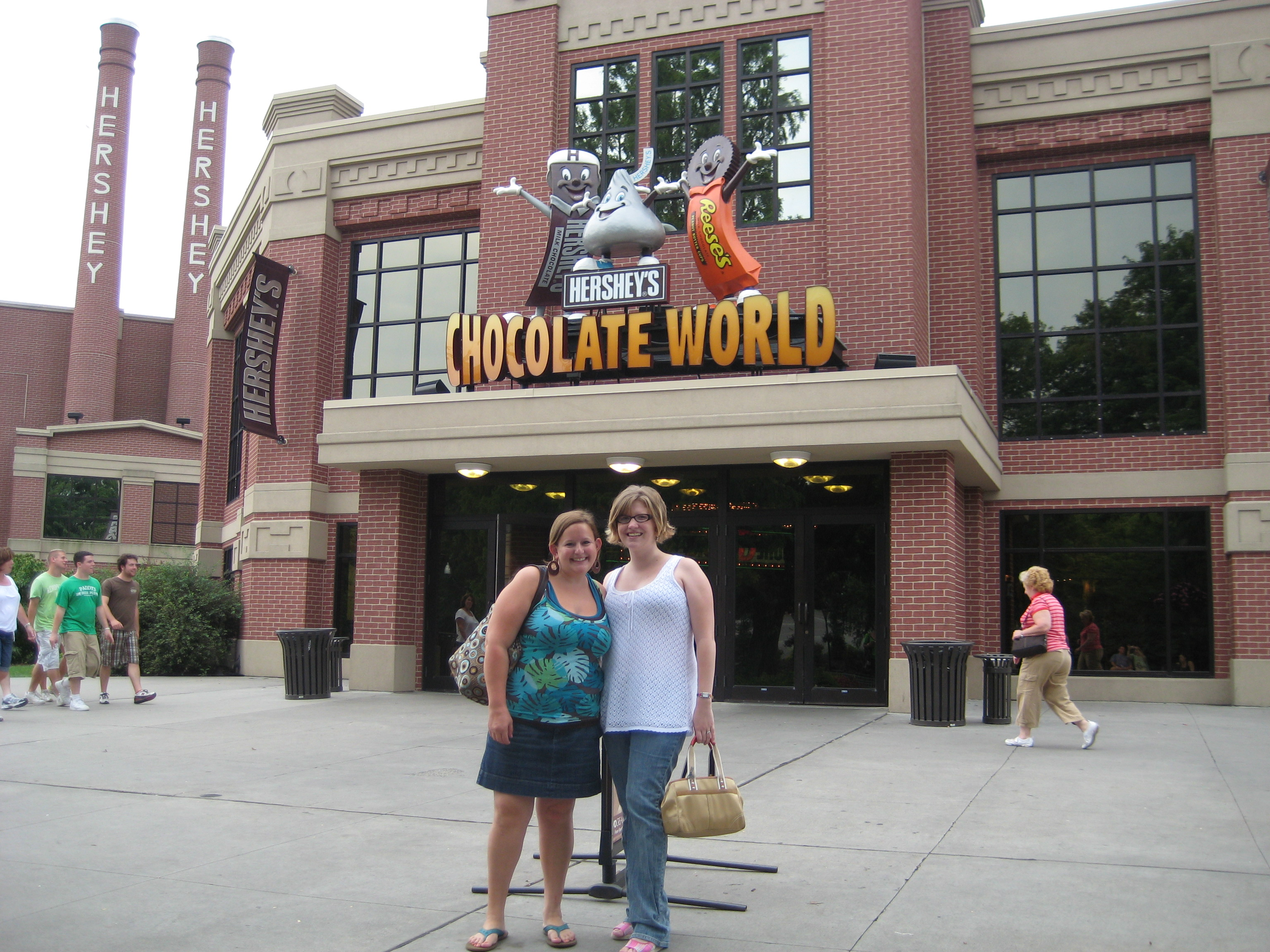 Becca and I and the BLAST at Chocolate World!